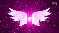 L21浪漫婚禮大氣紫色唯美翅膀LED視頻素材