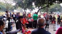 深圳中山公園樂隊--女聲獨唱---我家住在黃土高坡