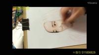 黃磊手繪頭像加速繪畫