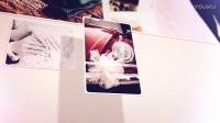 心形拼圖照片飄落婚紗婚禮相冊愛的記憶告白情人節圖片AE模板