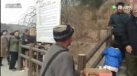 陕北乞丐庙会上的神表演