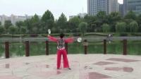 4、第二十九套柔力球双拍双球健身套路(亲亲茉莉花)李翠芳个人背面动作示范-国语流畅