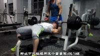 小縣城老鐵館的兩位老哥訓練胸肌和肱三頭肌-搖頭嶺車神健美訓練教學20170721