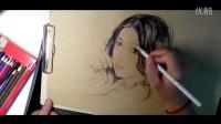 彩鉛肖像畫素描頭像手繪