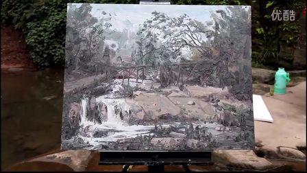 孟濤油畫風景寫生——2012春意上里